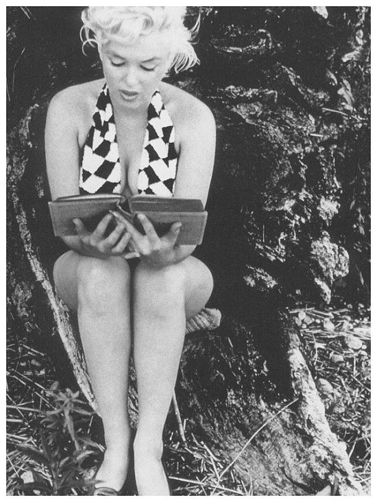 Marilyn Monroe Reads Joyce's Ulysses at the Playground (1955) by Eve Arnold