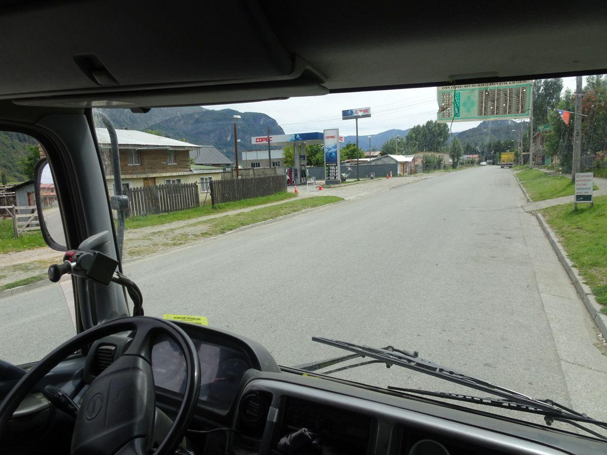 On expérimente le stop en camion.