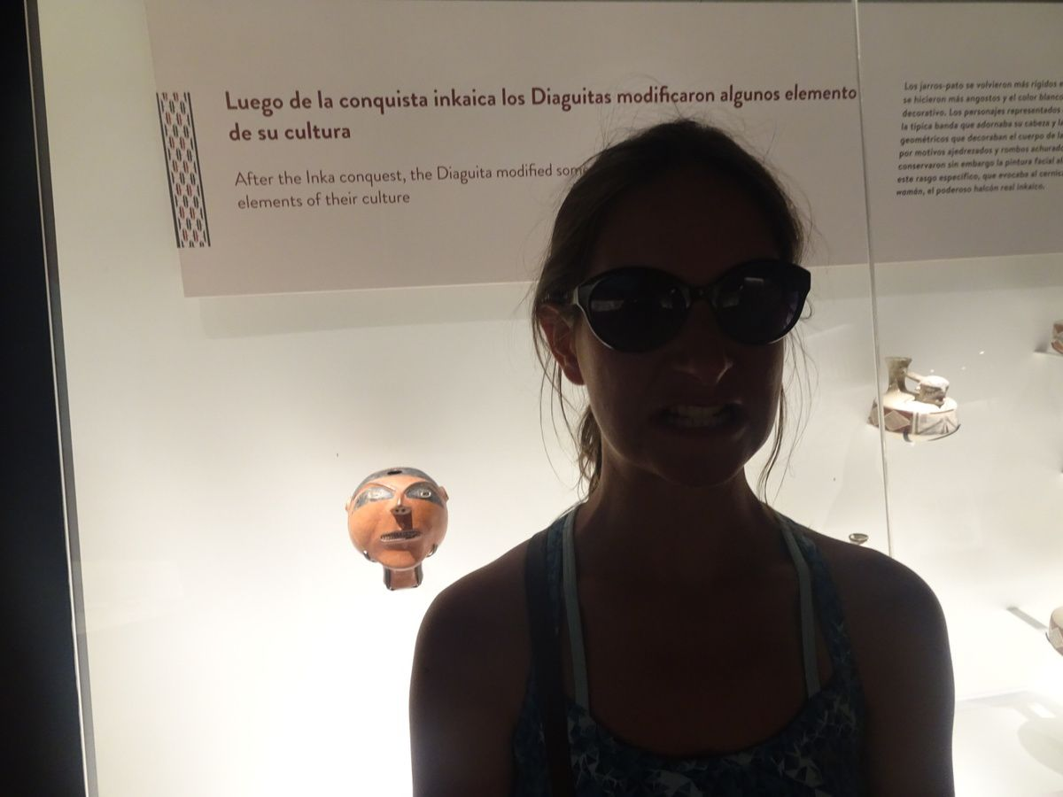 Petit craquage dans l'espace enfant et l'expo temporaire après quelques heures de musée...