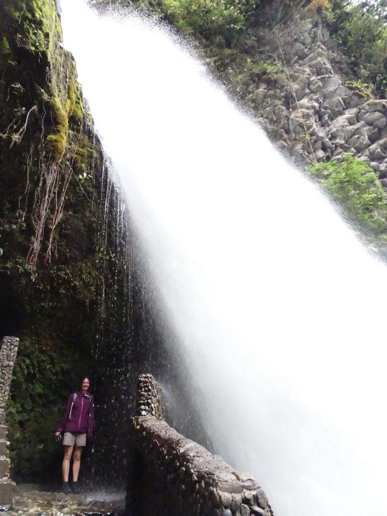La cascade vue d'en haut