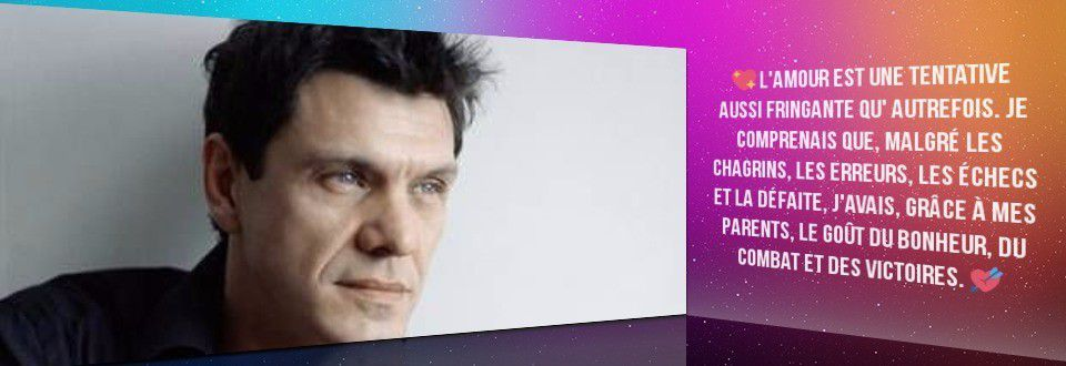 Citation Marc Lavoine