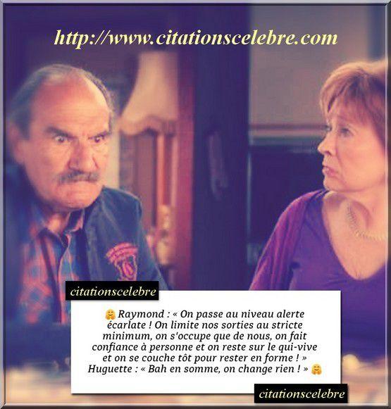 Phrases cultes de la série Scène de ménages avec Raymond et Huguette dit Marion Game et Gérard Hernandez
