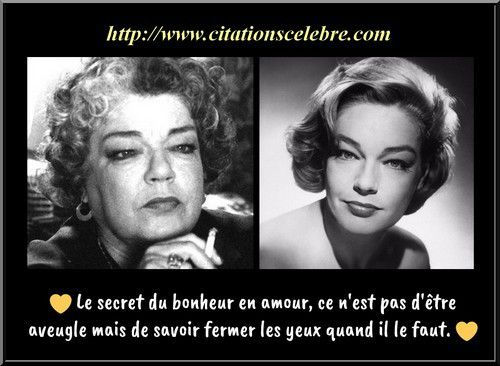 Citation Simone Signoret