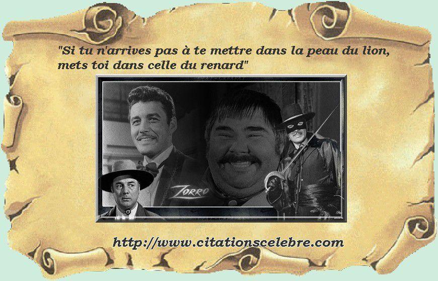 Phrases culte de la série Zorro de Walt Disney