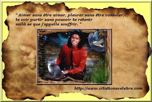 Citation en image de Michael Joseph Jackson