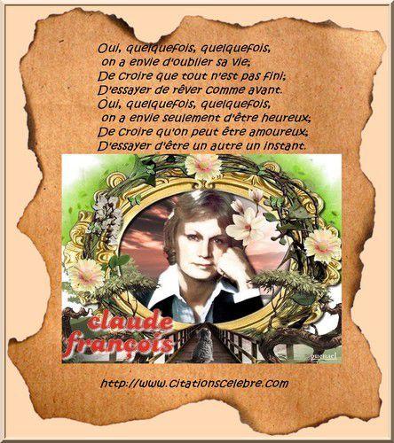 Citation de Claude François, surnommé « Cloclo »