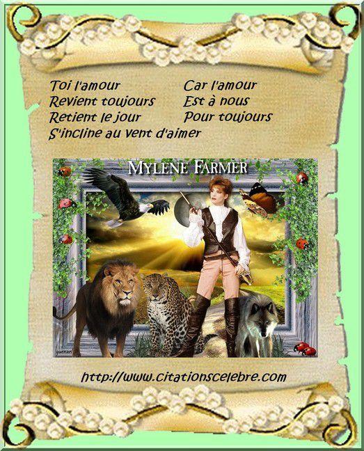 Citation de Mylène Gautier, dite Mylène Farmer