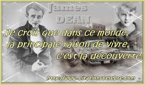 Citation de James Dean