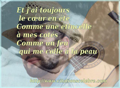 Citation de Kendji Girac - Me Quemo