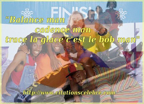 """Balance man cadence man trace la glace c'est le bob man"""