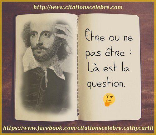 William Shakespeare Citations Célèbre Phrases Cultes