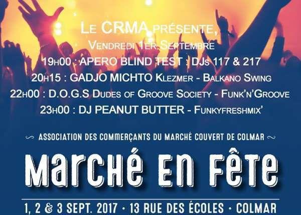 Vendredi 1er, samedi 2 et dimanche 3 septembre - Colmar Échecs à l'anniversaire du Marché couvert !