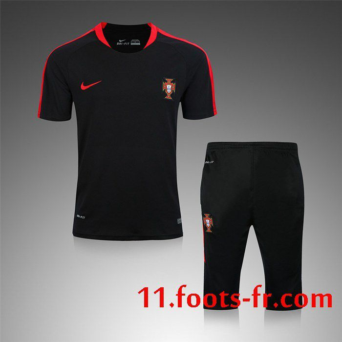 Training T Shirts Potugal Kit Noir Retro 2016 17