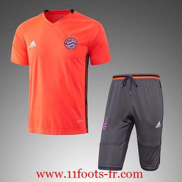 Repica Tee Shirt Bayern Munich Orange Kit + Pantalon 3/4 Nouveau 2016-17