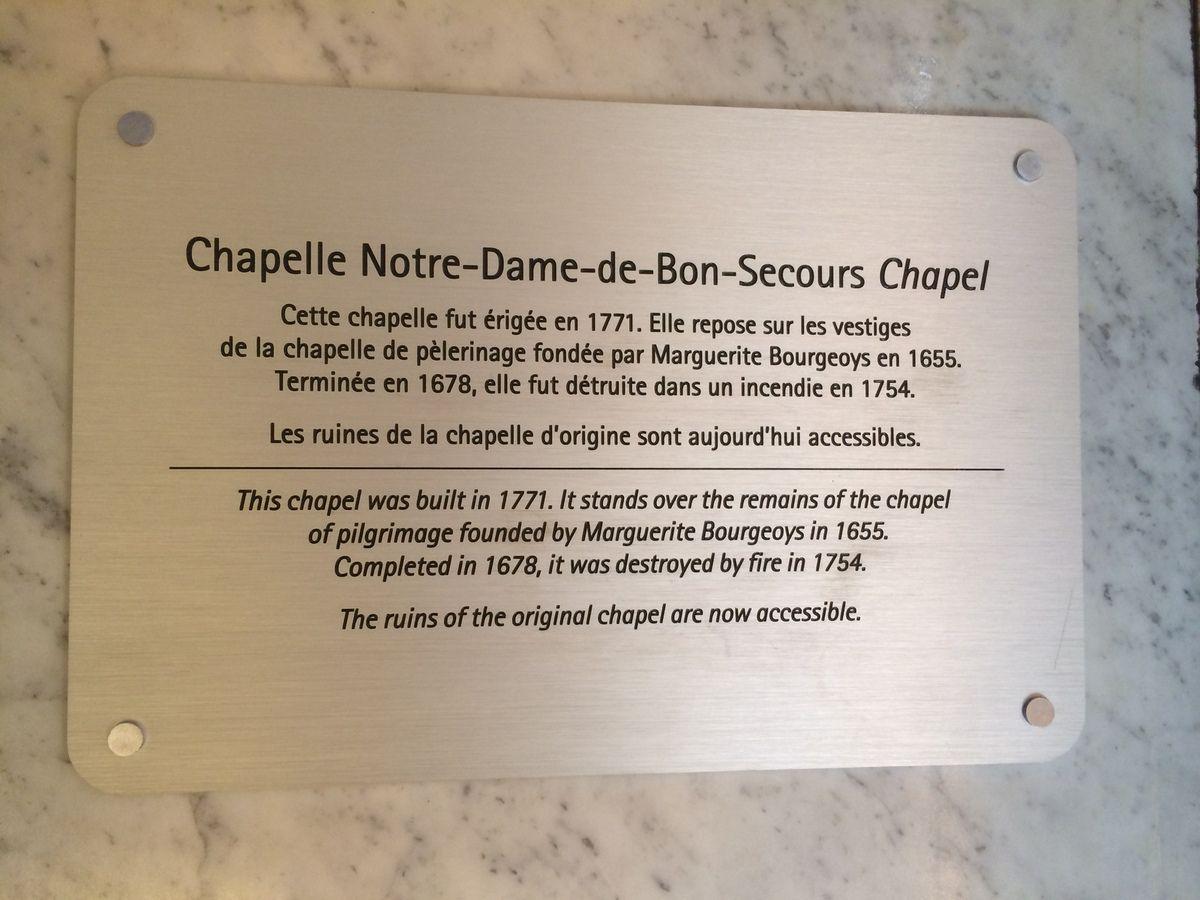 La plus ancienne chapelle de Montréal