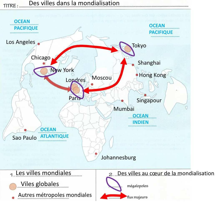 Carte Villes mondiales
