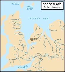 Carte du Doggerland
