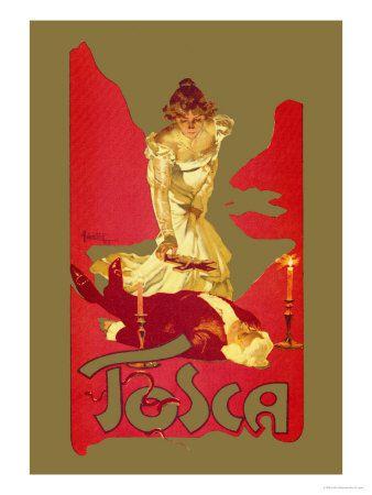 Tosca affiche originale par Adolfo Hohenstein