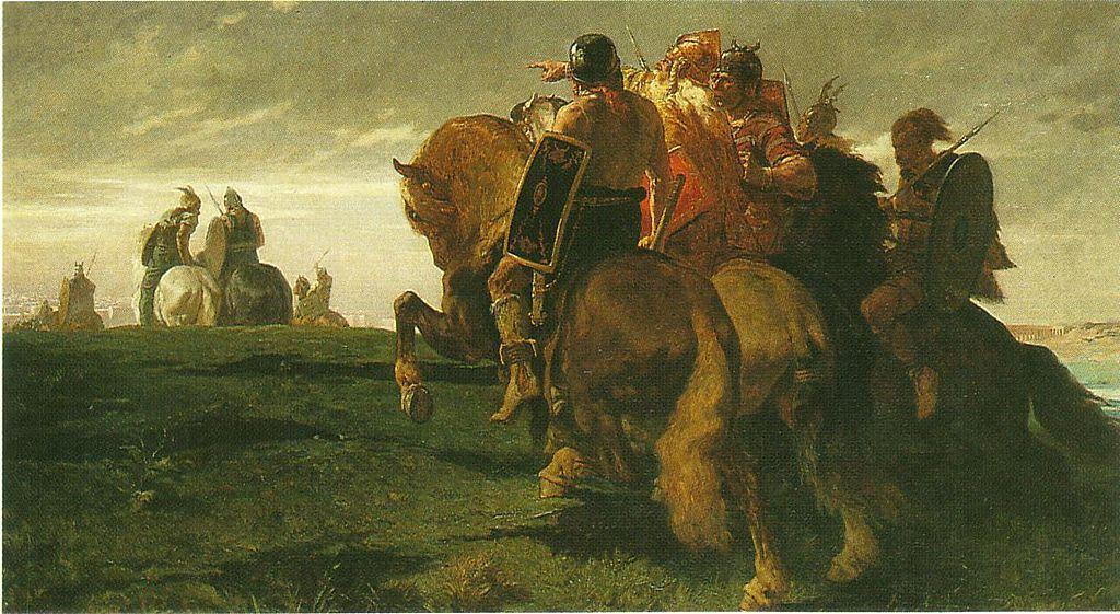 Gaulois en vue de Rome - Évariste-Vital Luminais