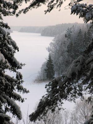 lac Valdaï enneigé