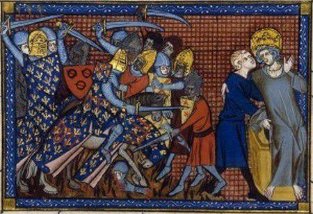 Bataille de Mansourah, Saint Louis guerroyant aux côtés du Comte d'Artois et du Baron Malet de Graville