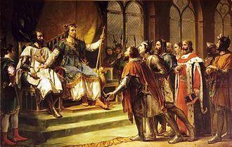Saint Louis médiateur entre le Roi Henri III et ses barons, de Rouget