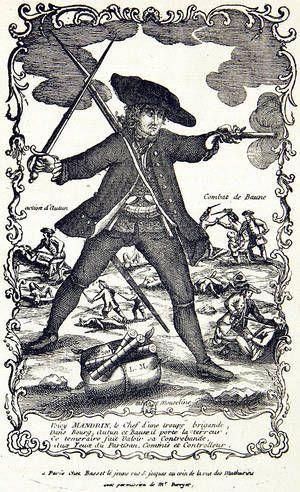 1 Mandrin s'attaque aux fermiers généraux. 2 Mandrin contrebandier. 3 Exécution de Mandrin