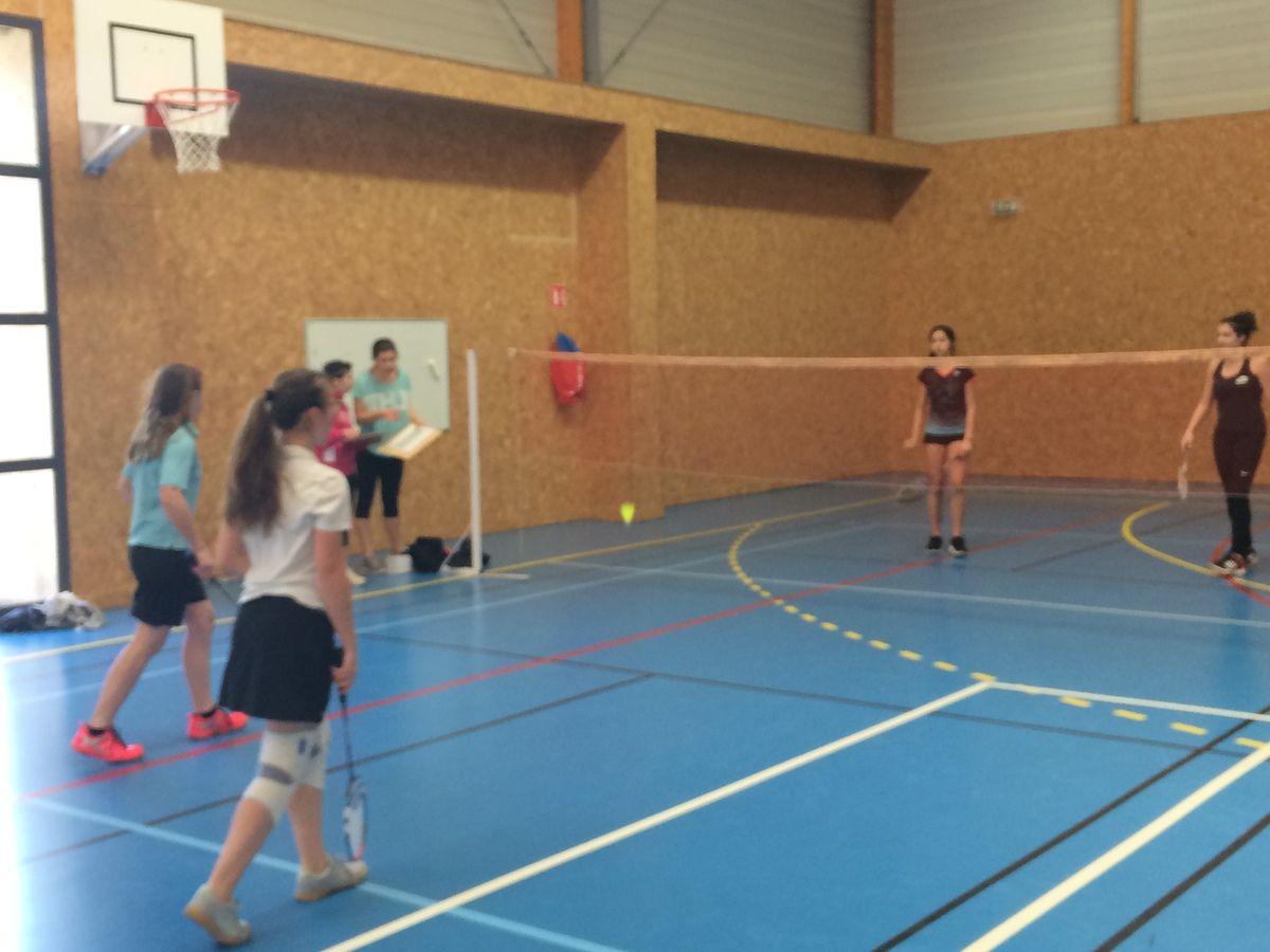 Départemental de badminton au lycée Dessaignes