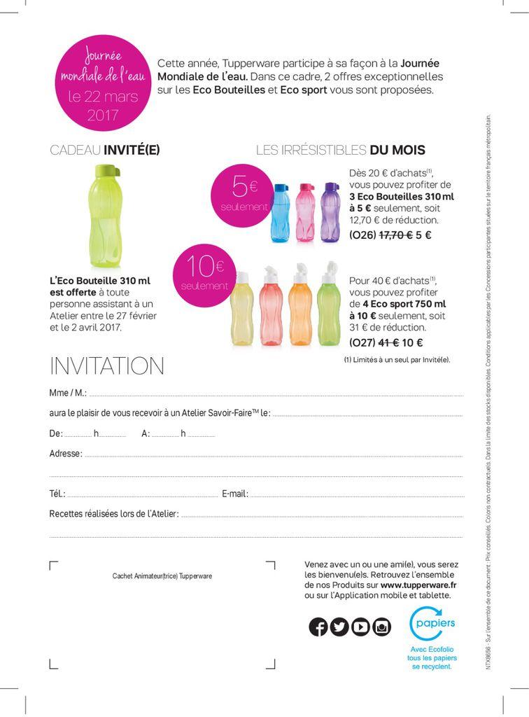 Mini catalogue promotions tupperware mars 2017