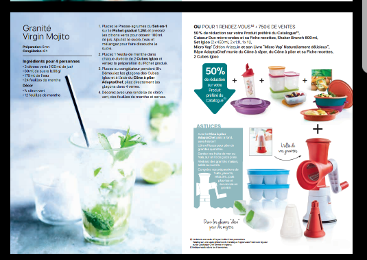 Mini catalogue avril tupperware
