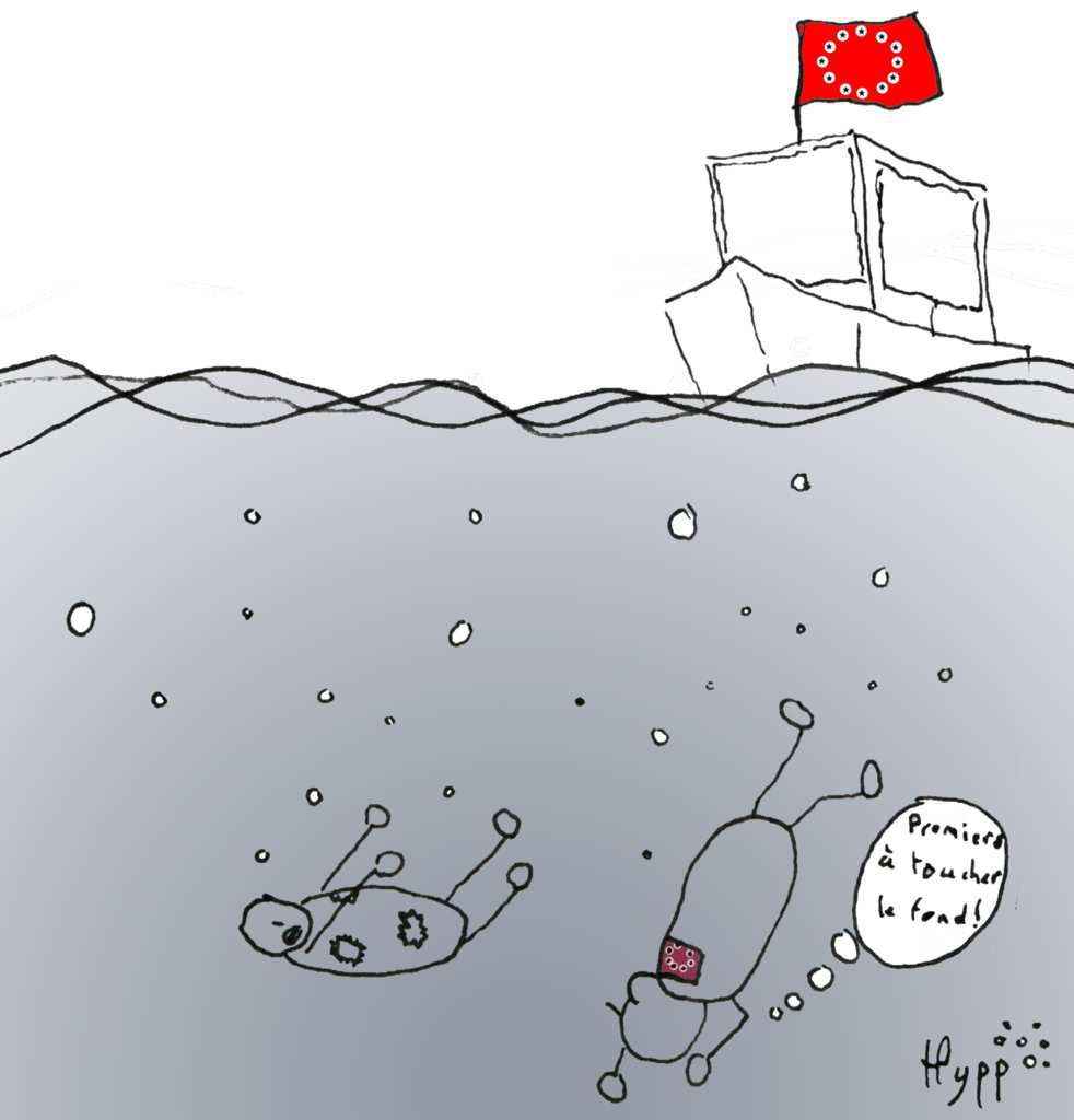 """""""First to reach the bottom !"""""""