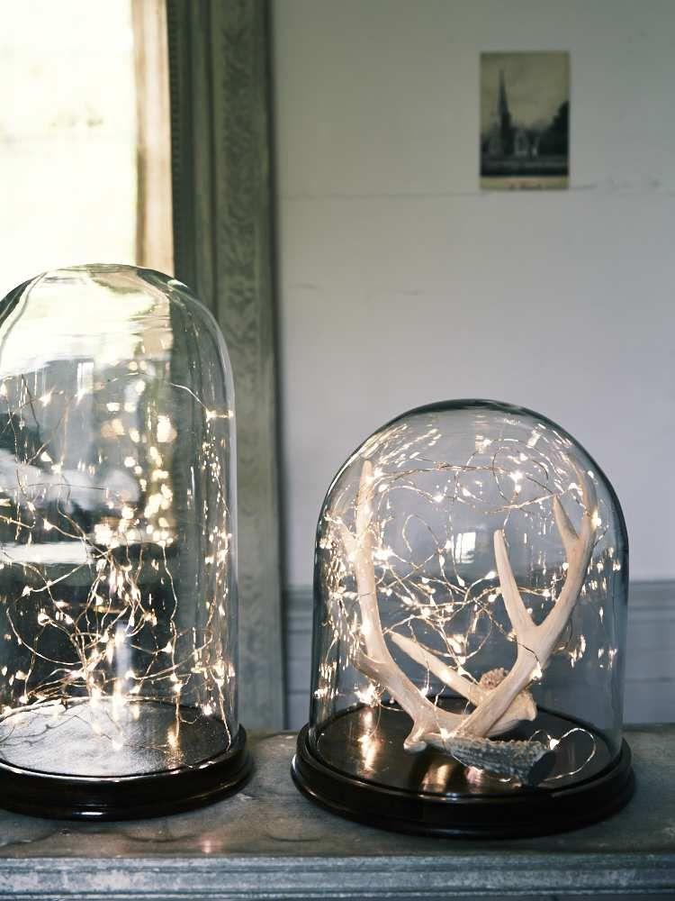 cr er une d coration lumineuse pour la table de noel. Black Bedroom Furniture Sets. Home Design Ideas