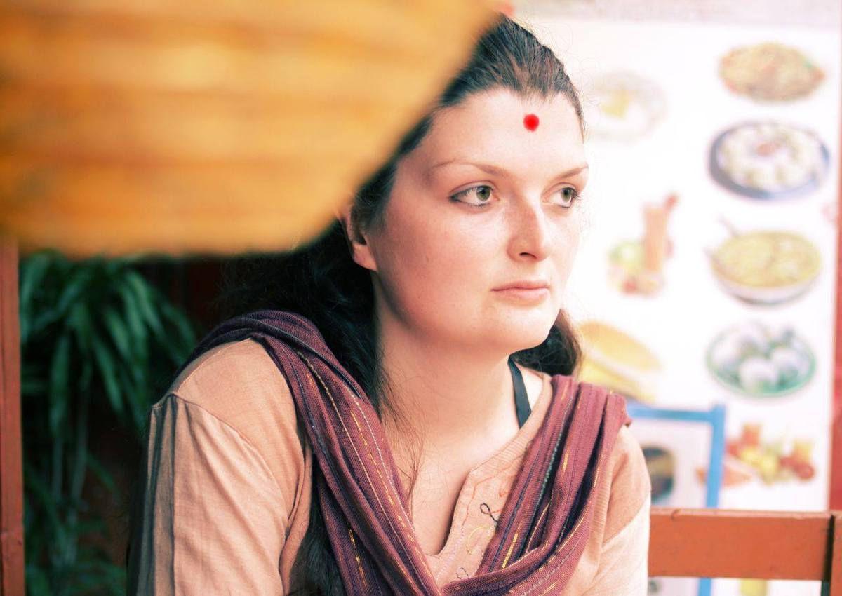 Au retour du temple de Bindhyabasini (Nepal). Pour moi, premiers pas avec la méditation Vipassana. (2014).
