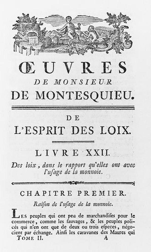 Coup de coeur... Montesquieu...