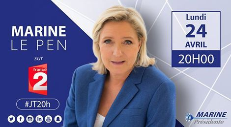 Marine Le Pen sur France 2