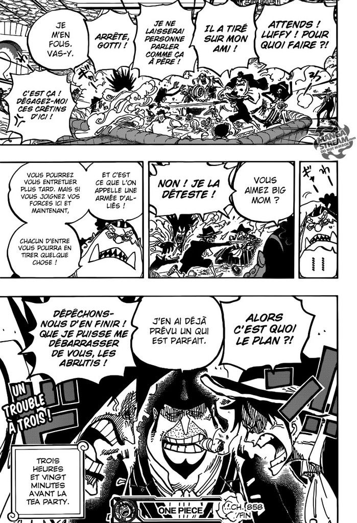 One Piece Chapitre 858 FR