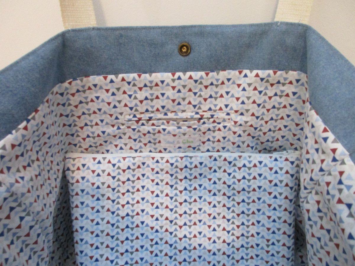 sacs en jean et galon à sequins