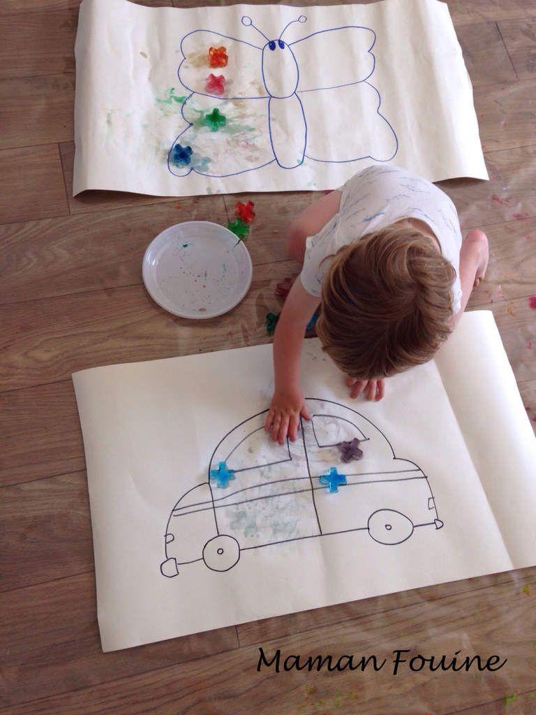 DIY : Peinture aux glaçons