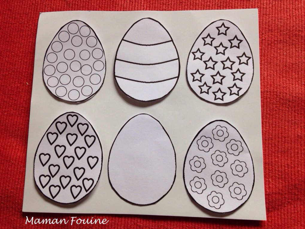 Tableau de Pâques en pochoirs