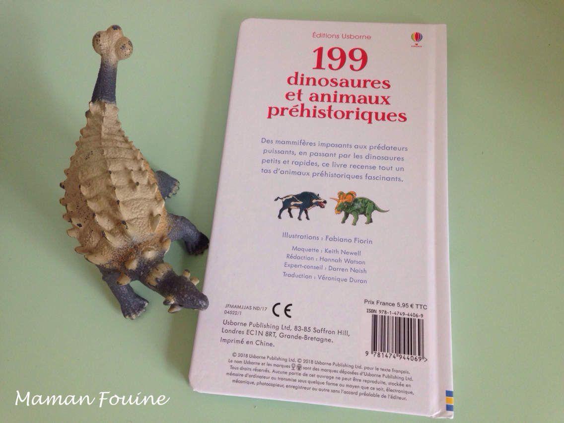 Nouveauté : 199 dinosaures et animaux préhistoriques