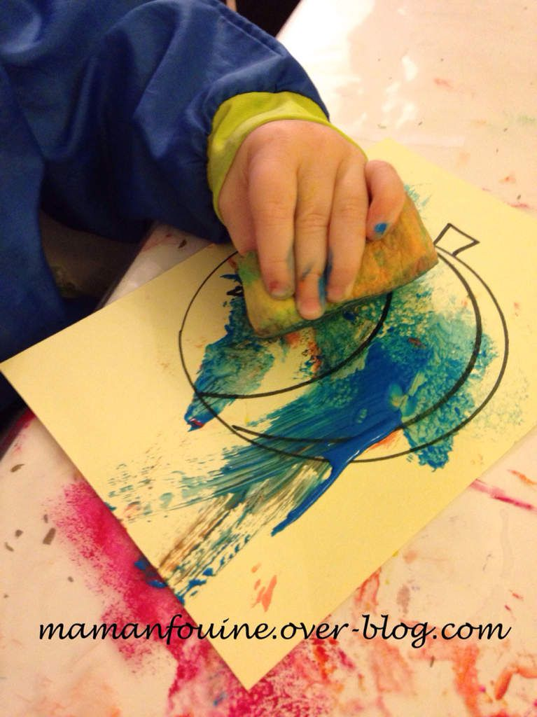Coloriage en peinture