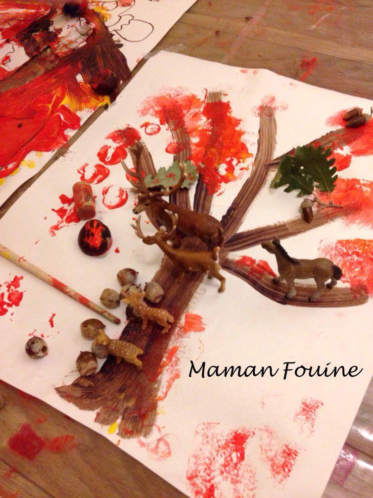 Peinture géante d'automne