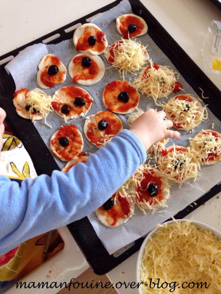 En cuisine : Mini pizzas