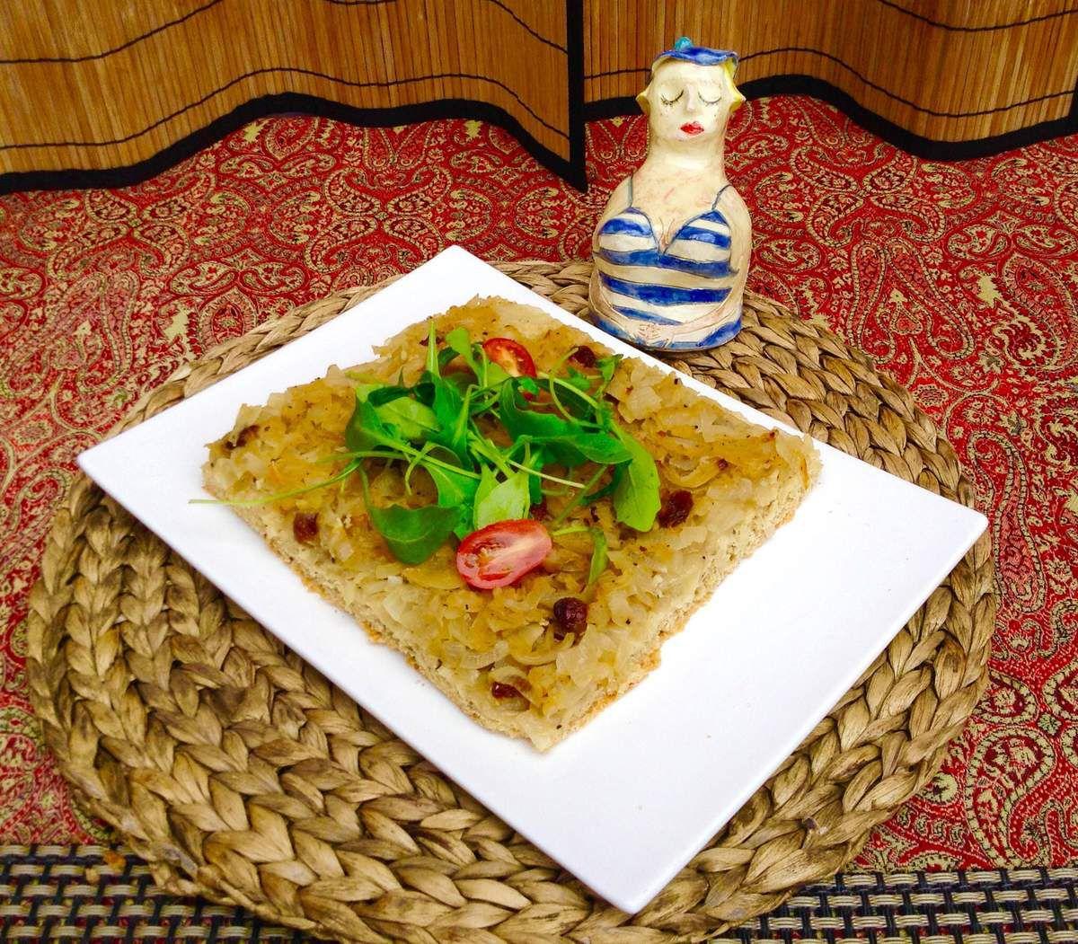 Pissaladière aux oignons et  graines de fenouil
