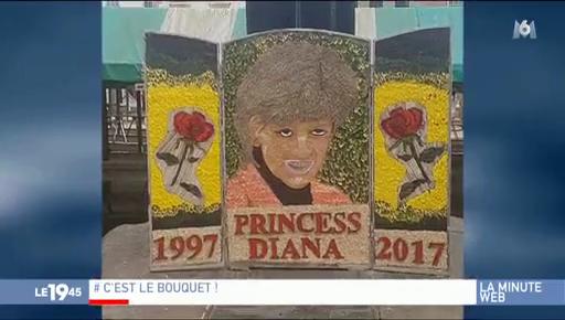 Angleterre : Un portrait floral de Diana provoque moqueries et stupeur sur internet