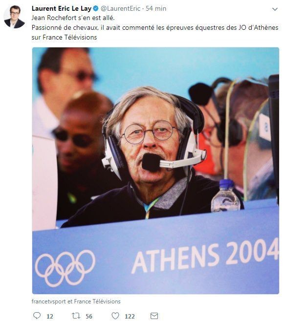 Jean Rochefort décédé : Pierre Ménès, Hugo Clément... Les réactions sur Twitter