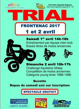 Trial UFOLEP Frontenac - 1 &amp&#x3B; 2 avril 2017