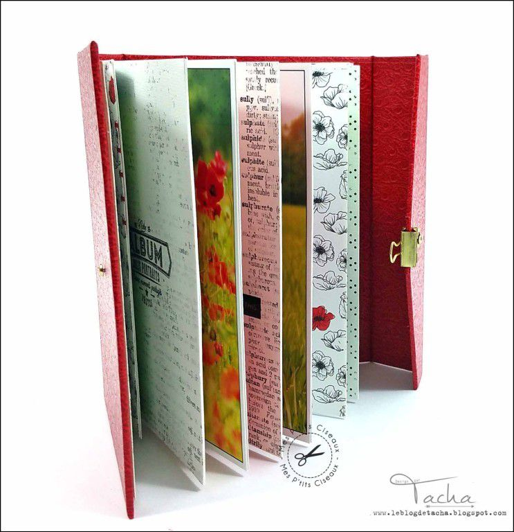 Mini album &quot&#x3B;Coquelicots&quot&#x3B;
