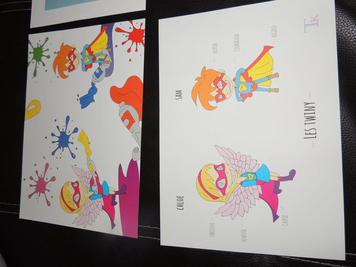 Set d'affiches pour chambre d'enfant