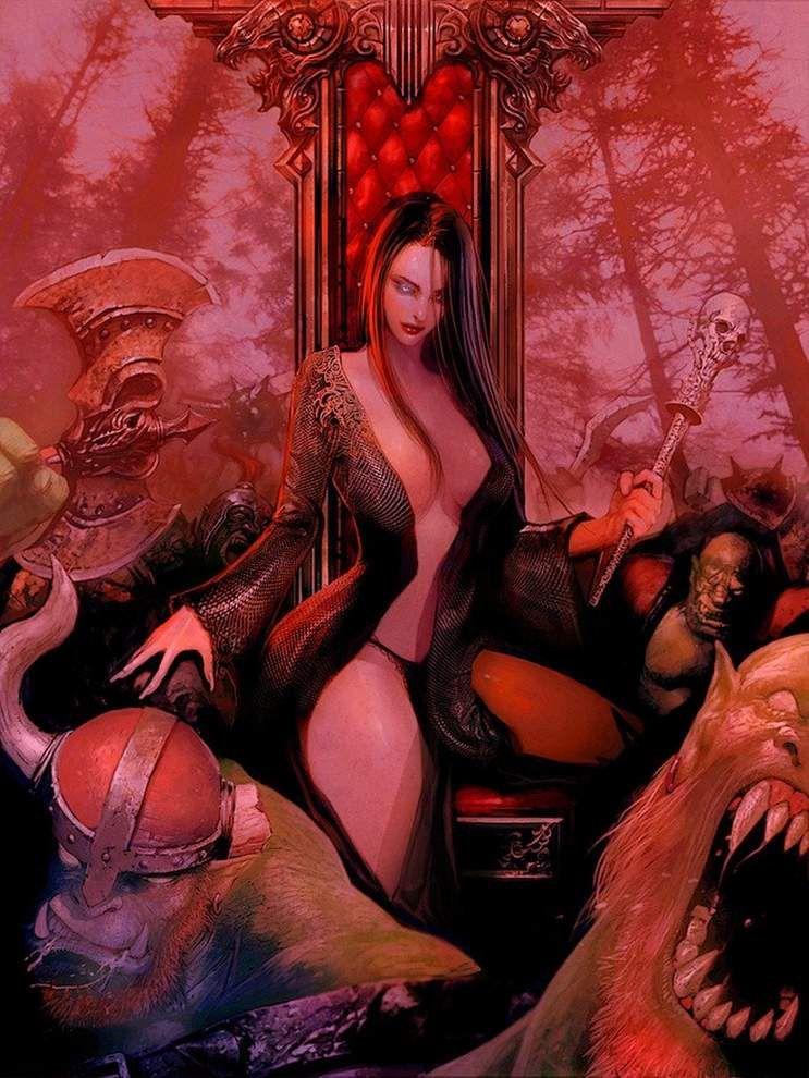 c'est fini ! le thème c'est des efles guerrièes et un peu des magiciennes bonne vitise ! :)